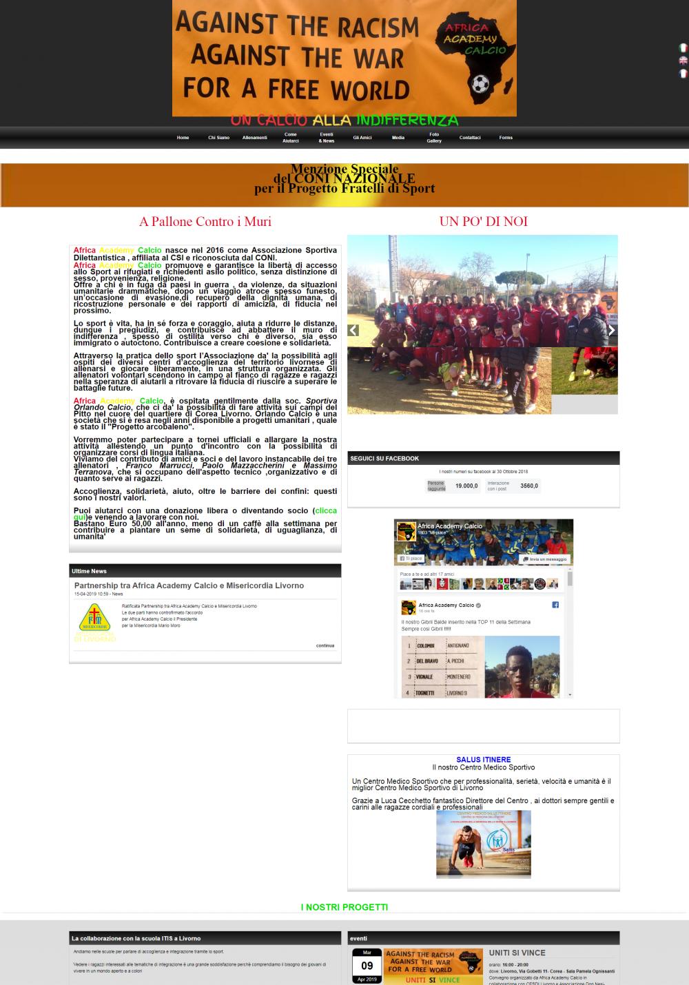 sito per africa academy calcio