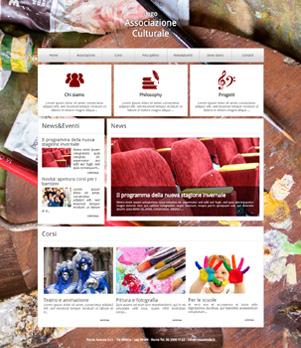 sito per associazione culturale template 10026
