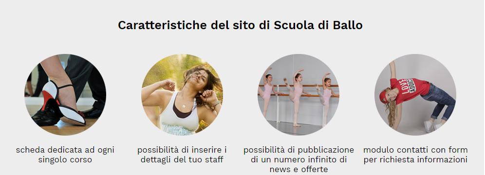 caratteristiche sito web scuola di ballo
