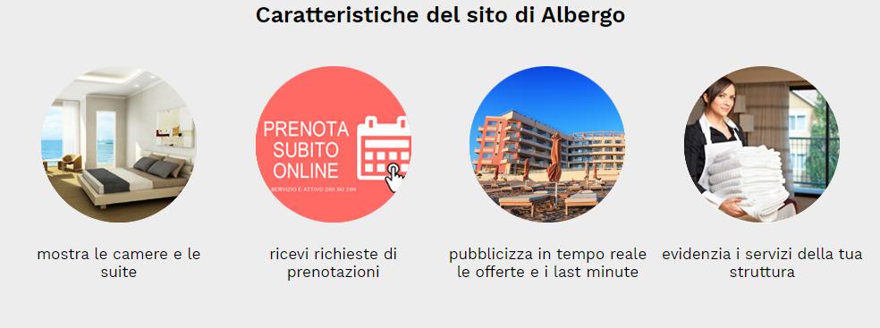 caratteristiche sito web albergo