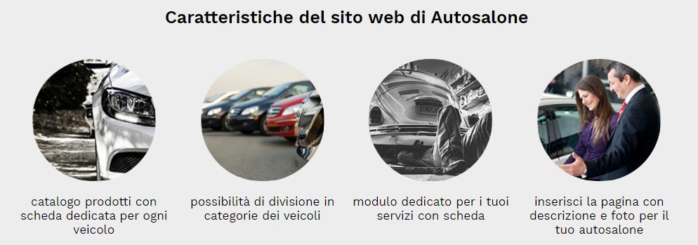 caratteristiche sito web autosalone