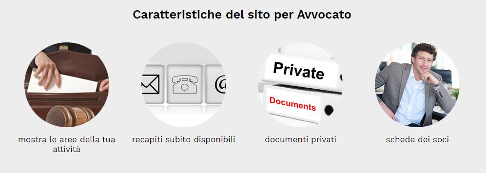 caratteristiche sito web avvocati