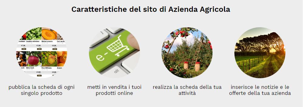 caratteristiche sito web azienda agricola