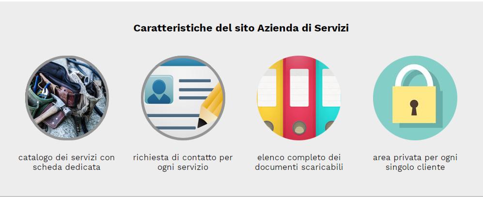 caratteristiche sito azienda di servizi