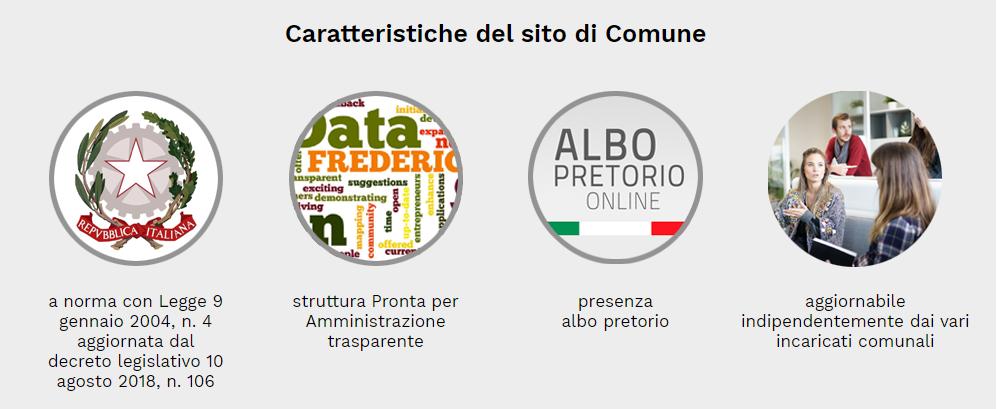 caratteristiche sito web comune