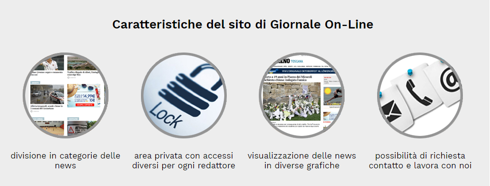 caratteristiche sito giornale online