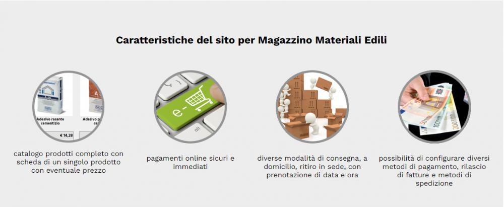caratteristiche sito web magazzino edilizia