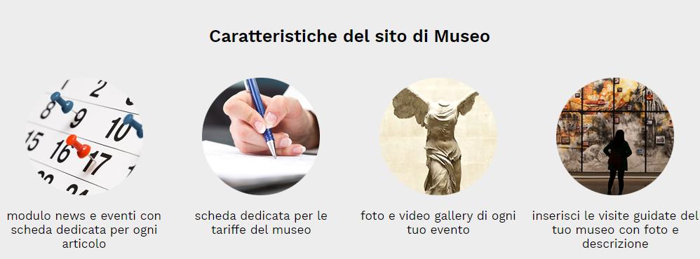 caratteristiche sito museo