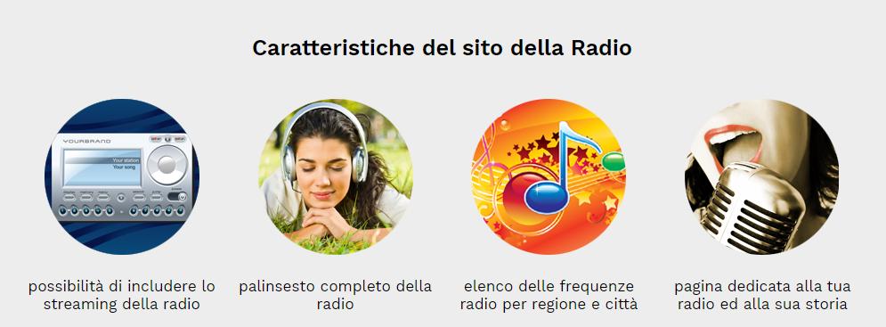 caratteristiche sito radio