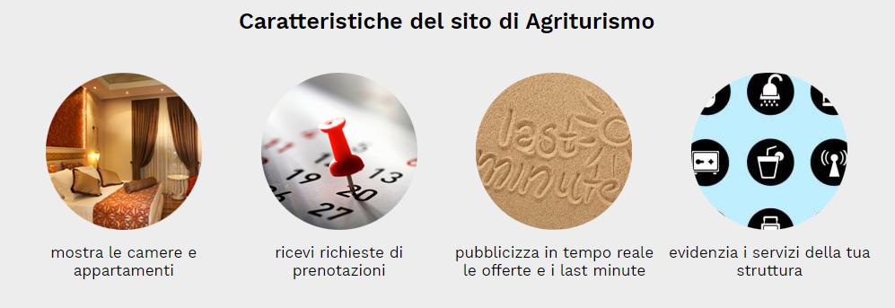 caratteristiche sito web agriturismo