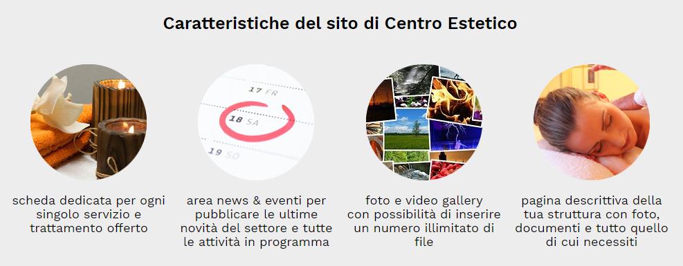 caratteristiche sito web centro estetico