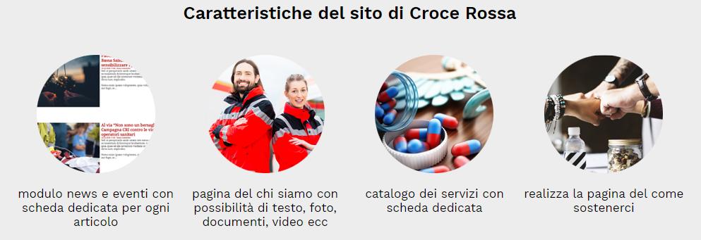 caratteristiche sito web croce rossa
