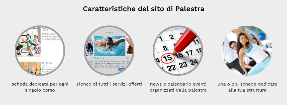 caratteristiche sito web palestra