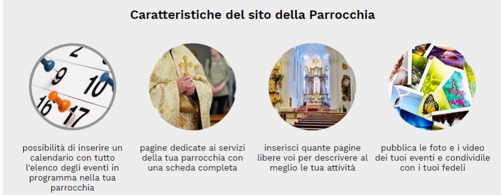 caratteristiche sito web parrocchia