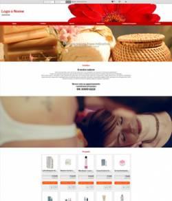sito web centro estetico modello 10105