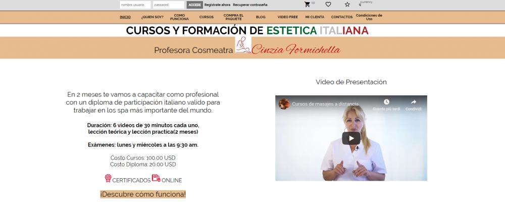 sito per cursos y formacion de estetica italiana online corsi massaggi online