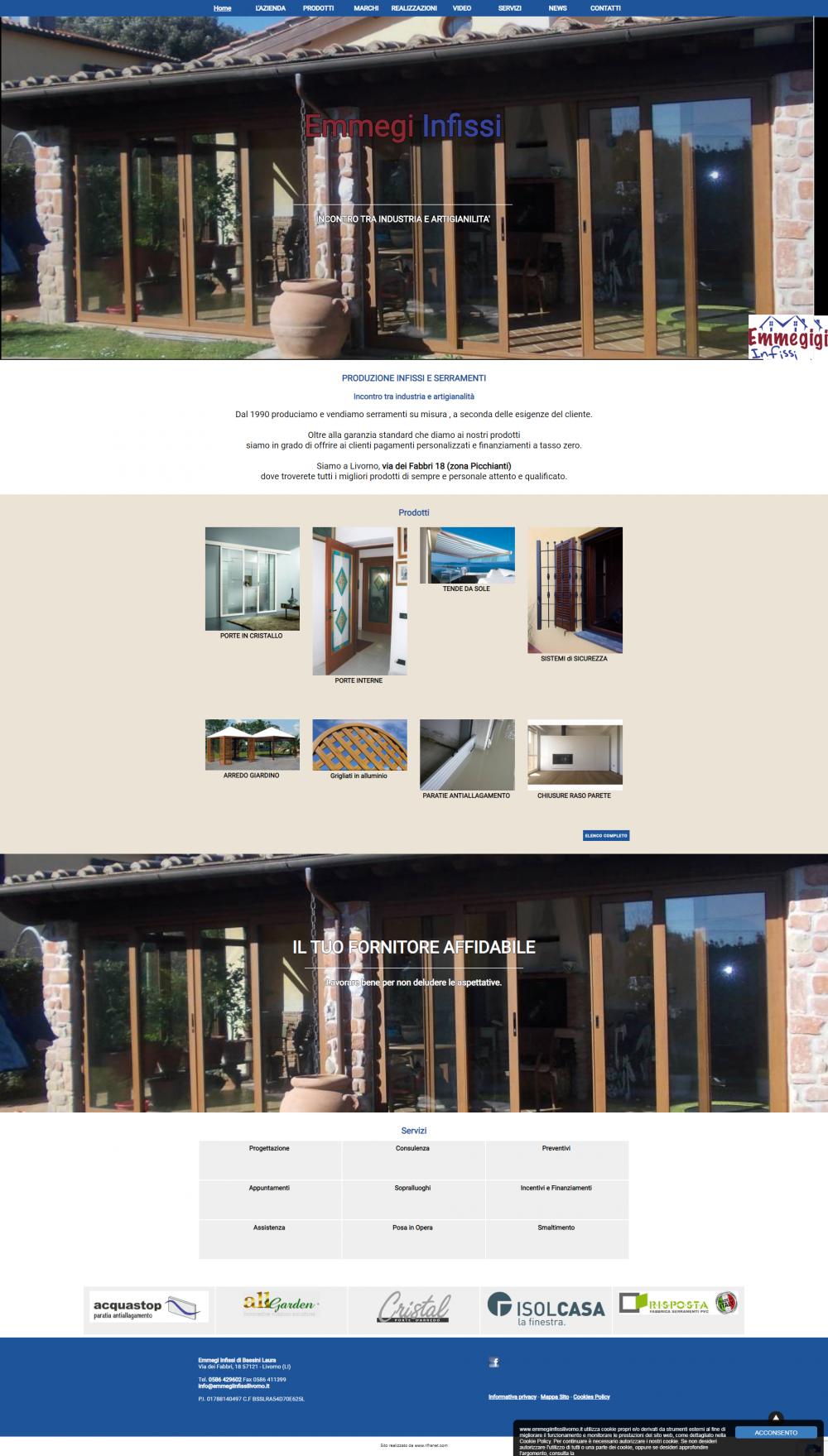 sito web emmegi infissi livorno dopo restyling