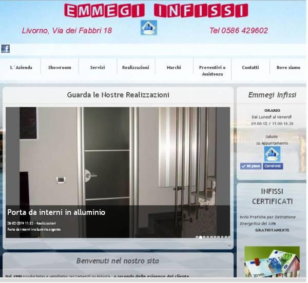sito per emmegii infissi livorno