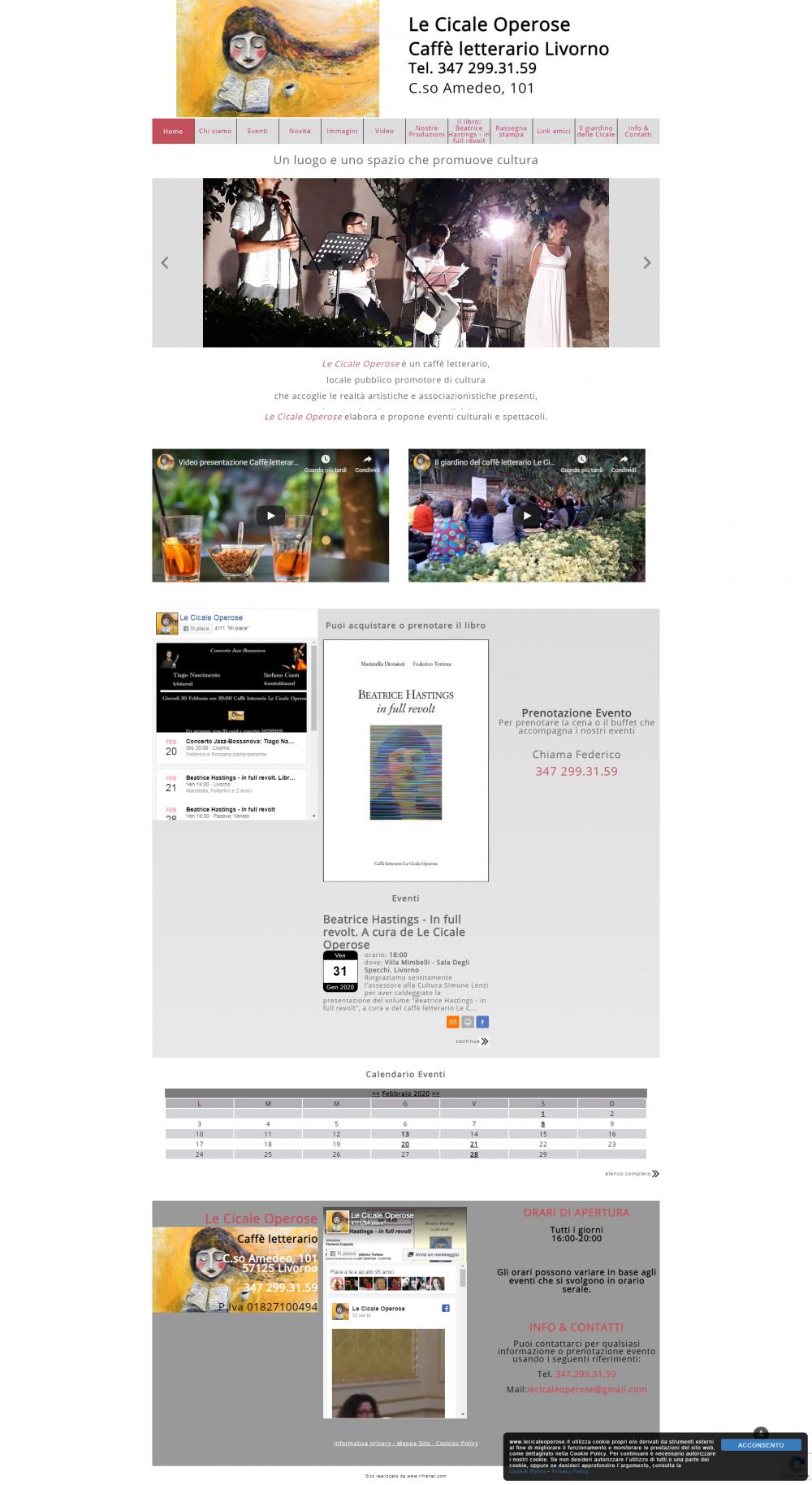sito web le cicale operose livorno