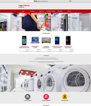 sito web negozio elettronica