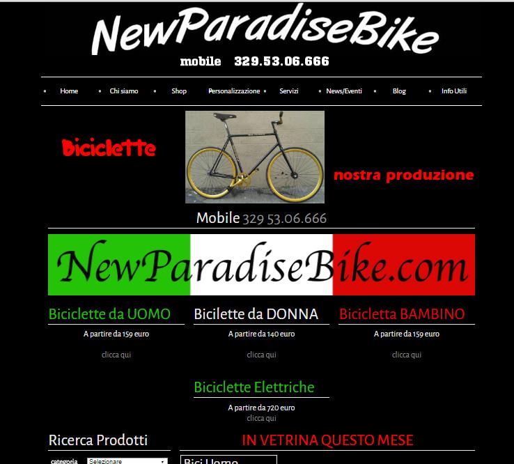 sito per newparadise bike