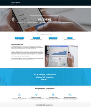 sito web broker finanziario template 10099