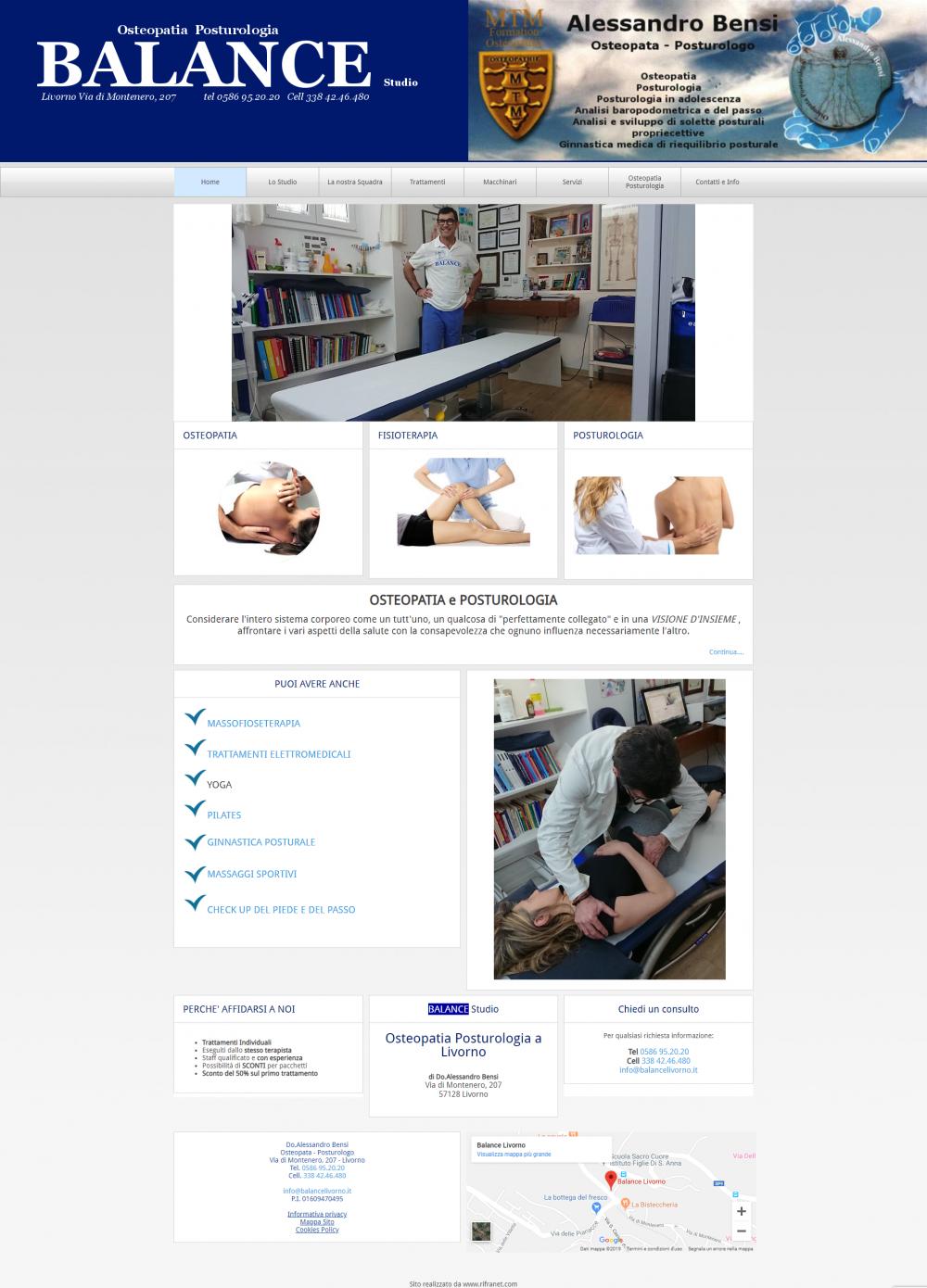 sito studio fisioterapia template