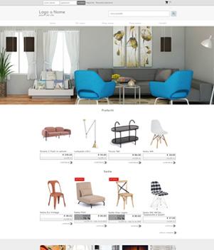 sito negozio arredamento online template 10098