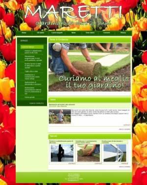 sito web giardiniere template