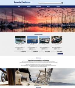 sito web affitto barche template