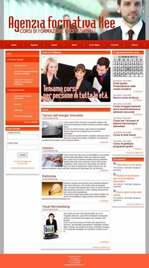 sito per agenzia formativa template
