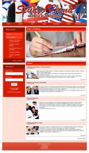 sito per agenzia di traduzioni template