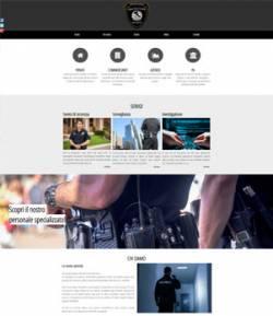 sito per agenzia di vigilanza template