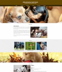 sito per allevamento di cani template 10090