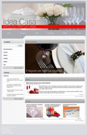 sito per articoli per la casa template