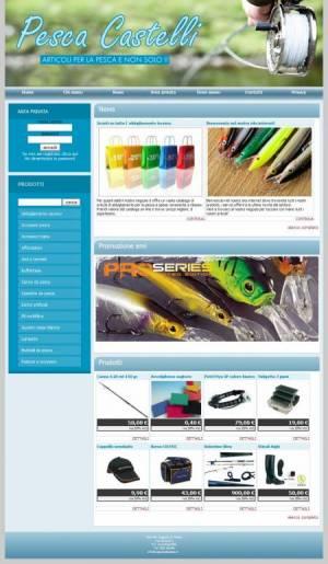 sito web articoli pesca template