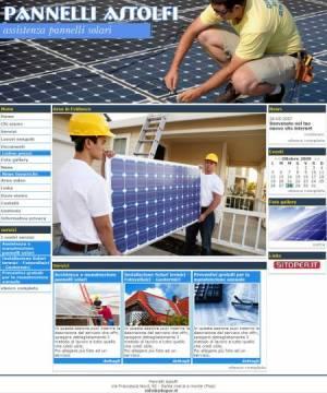 sito per assistenza pannelli solari template