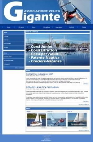 sito per associazione di vela template