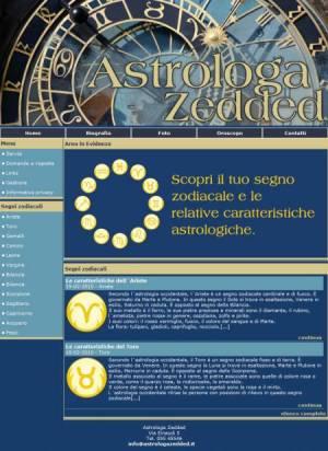 sito per astrologo template