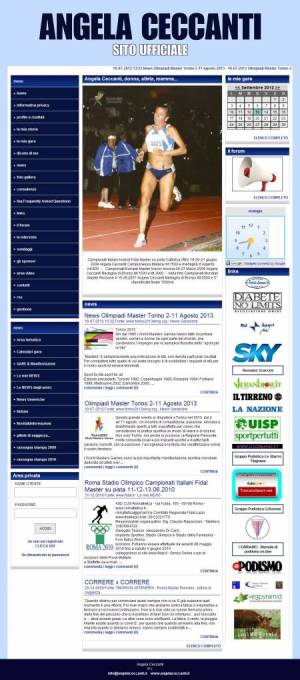 sito per atleta template