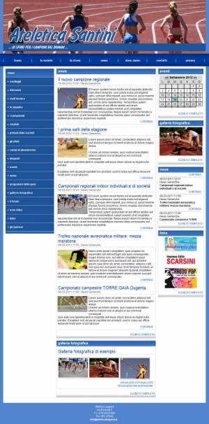 sito per atletica leggera template
