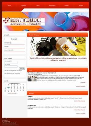 sito per azienda chimica template