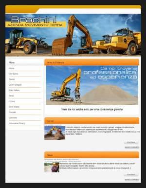 sito per azienda movimento terra template