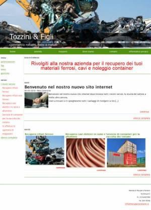 sito per azienda recupero rottami template