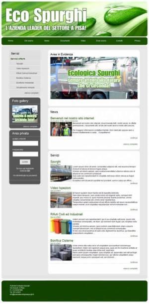 sito per azienda spurghi template