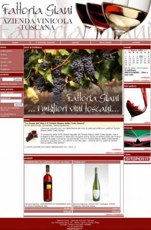 sito per azienda vinicola template