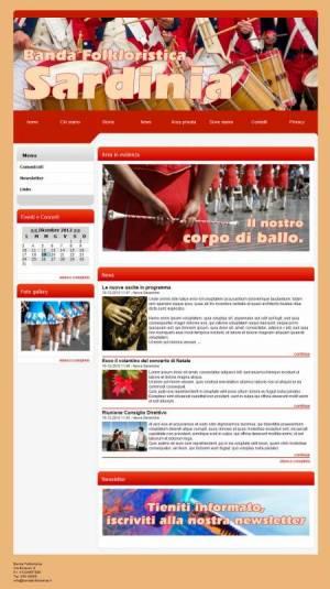 sito per banda folkloristica template