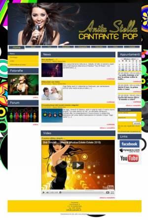 sito per cantante template