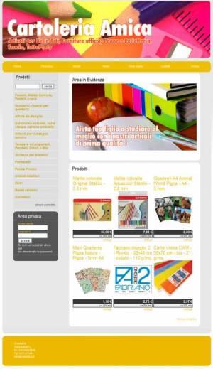 sito per cartoleria template