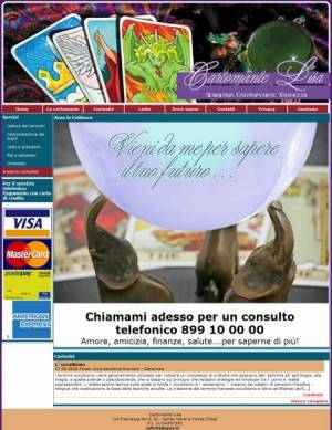 sito web cartomante template